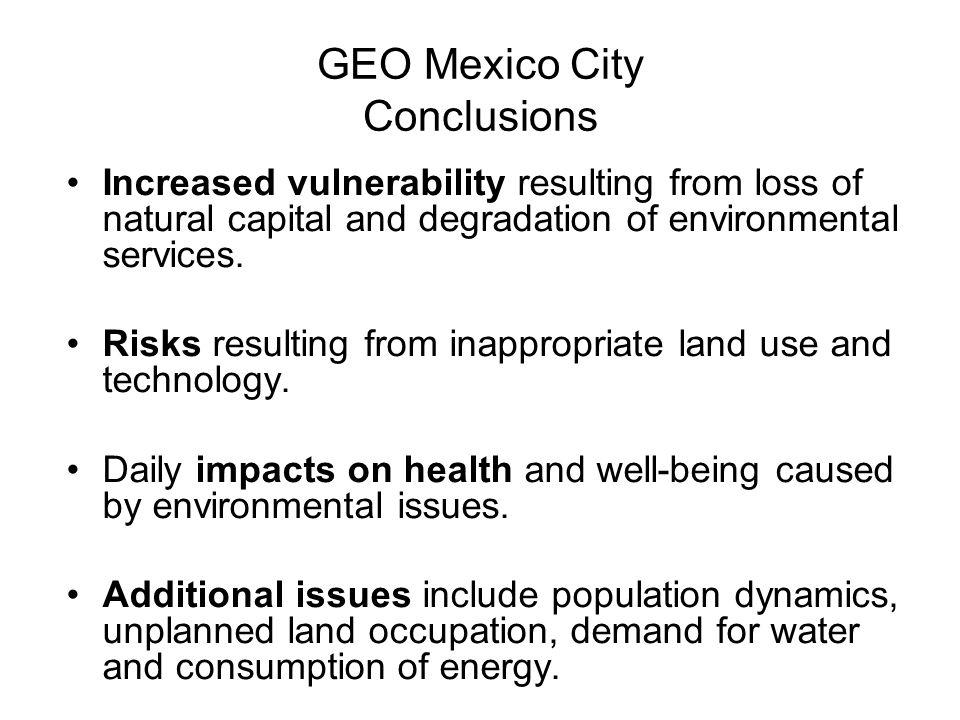 GEO Mexico City Conclusions