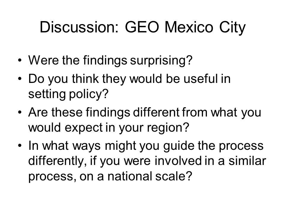 Discussion: GEO Mexico City