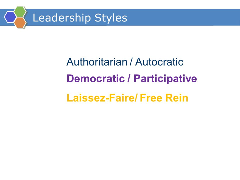 participative leadership and how it affects the group Influence of different leadership styles, and to determine what  how does  leadership affect group dynamics 3  democratic (participative) leadership.