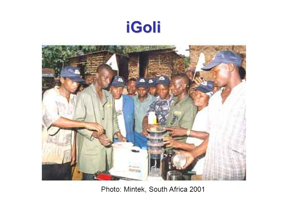 iGoli Photo: Mintek, South Africa 2001