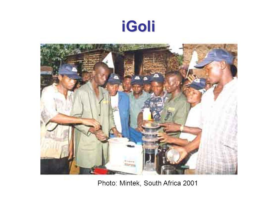 iGoli Photo: Mintek, South Africa 2001