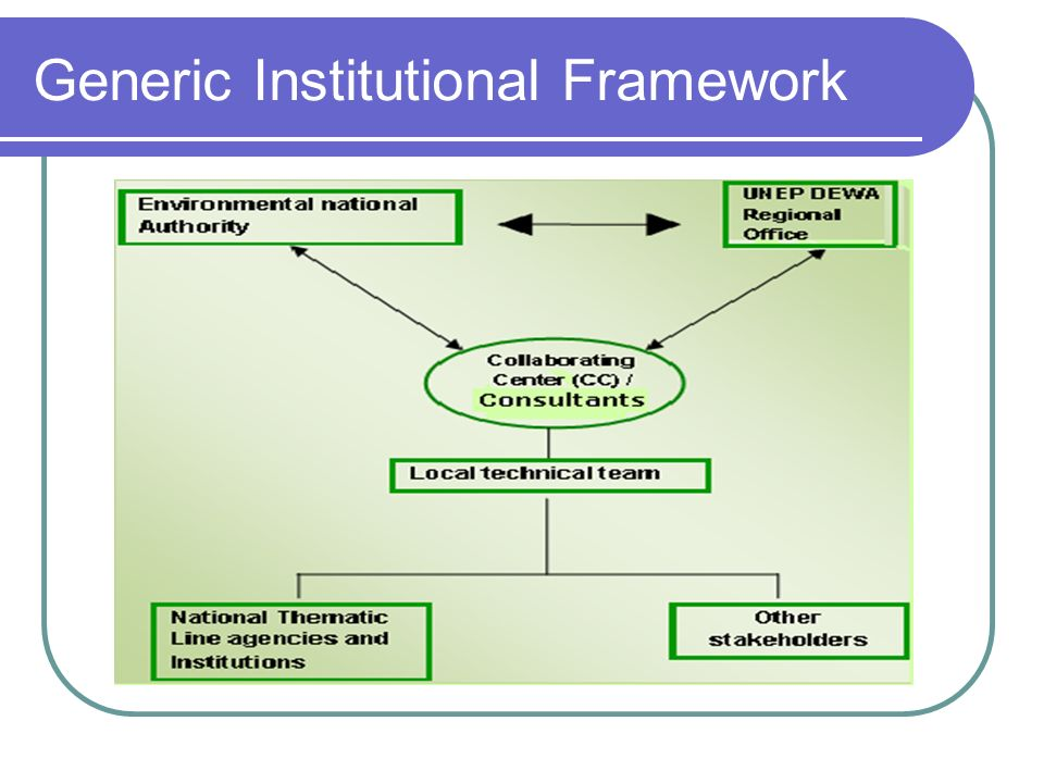 Generic Institutional Framework