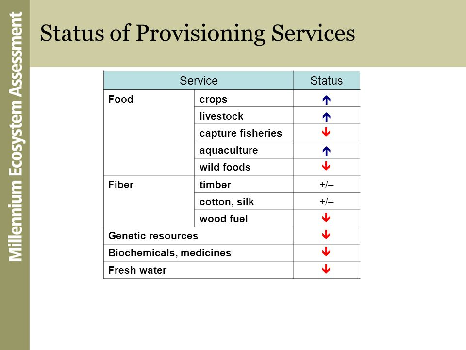 Status of Provisioning Services