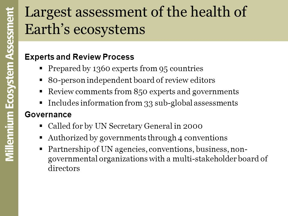 Largest assessment of the health of Earth's ecosystems