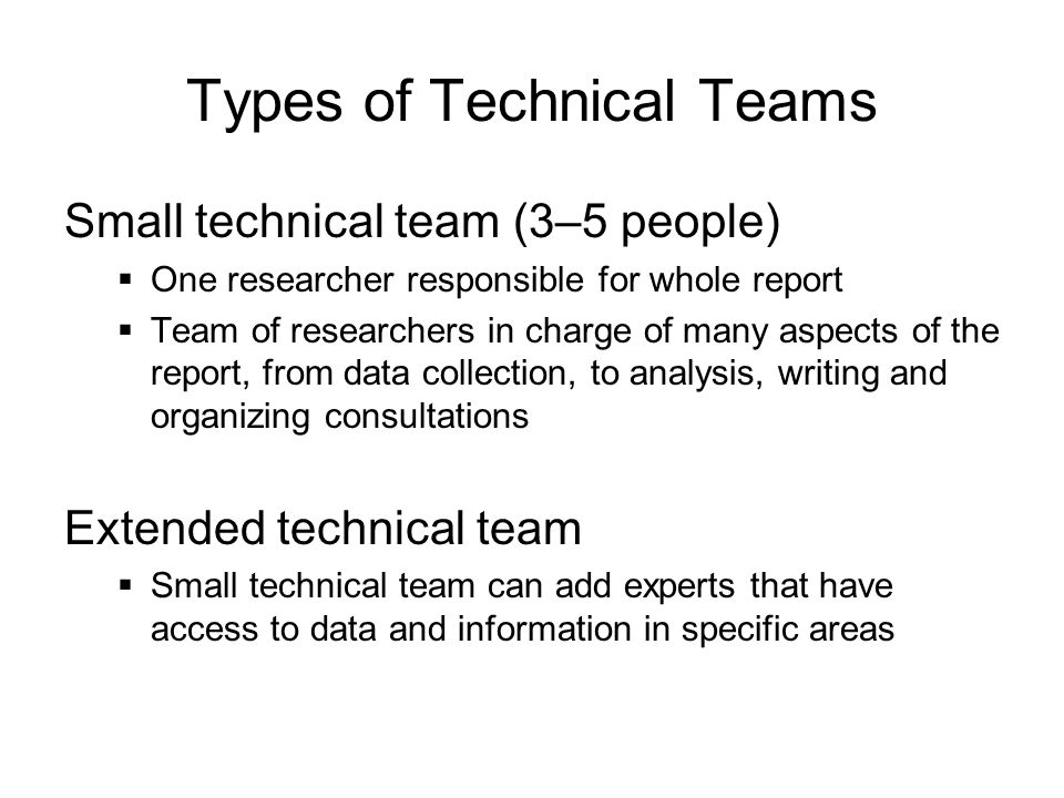 Types of Technical Teams