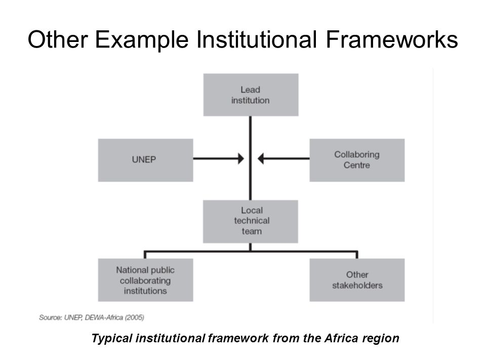 Other Example Institutional Frameworks