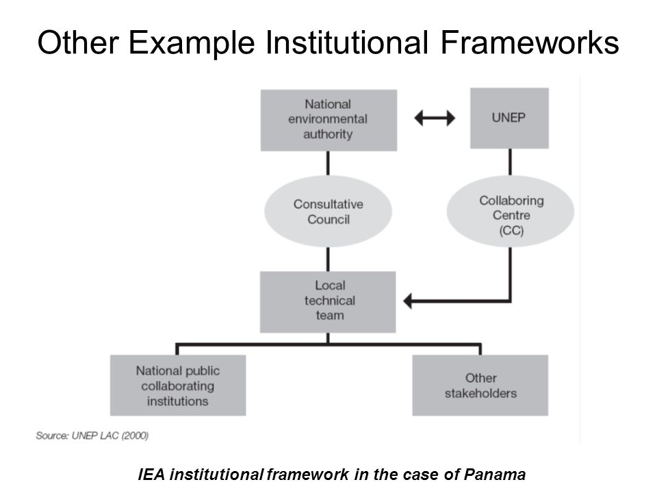 IEA institutional framework in the case of Panama