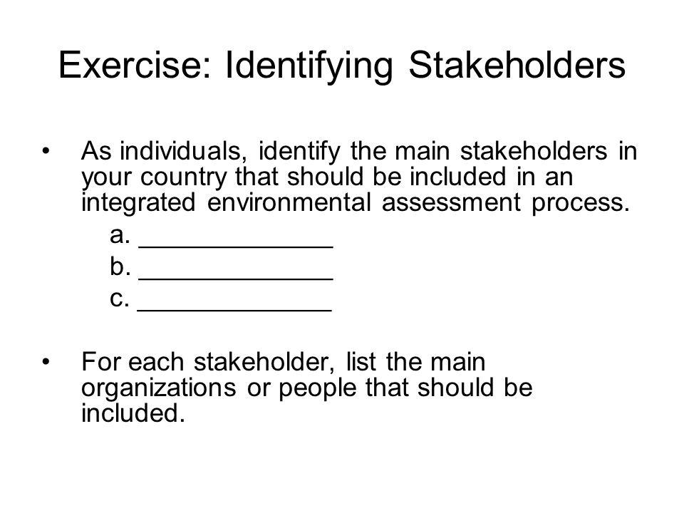 Exercise: Identifying Stakeholders