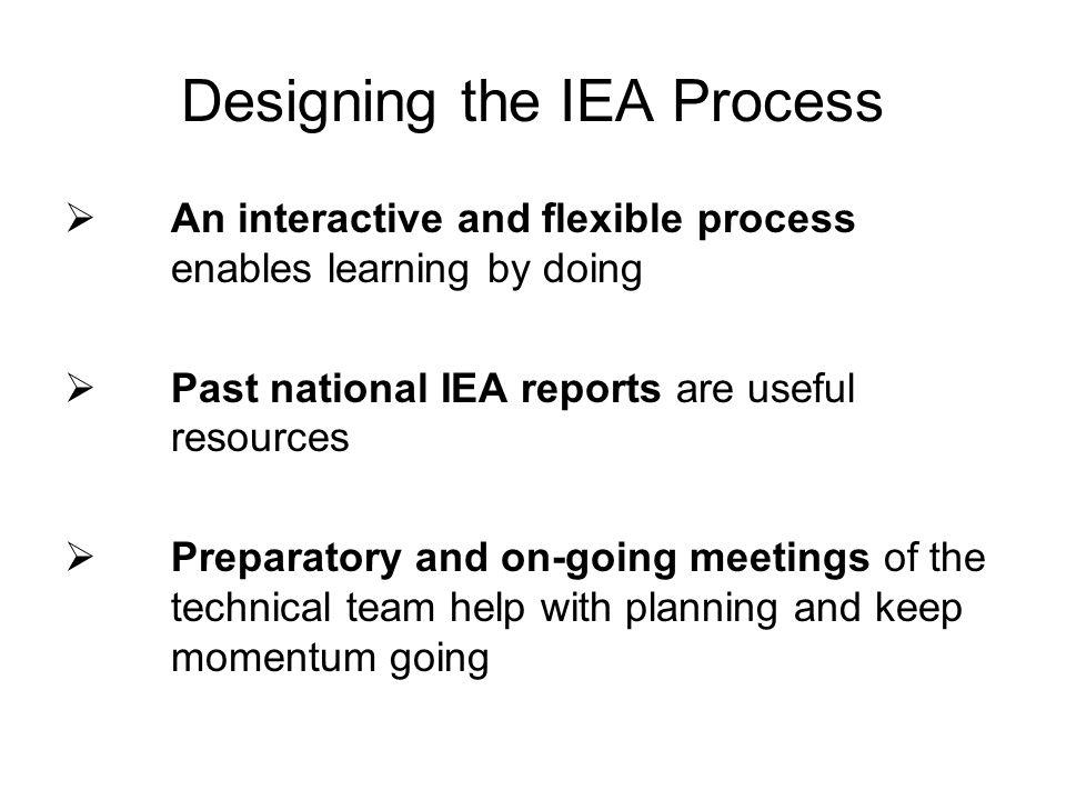 Designing the IEA Process