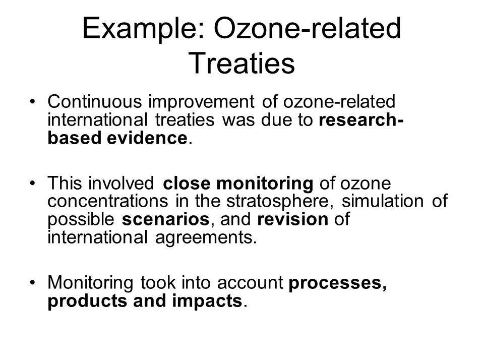Example: Ozone-related Treaties