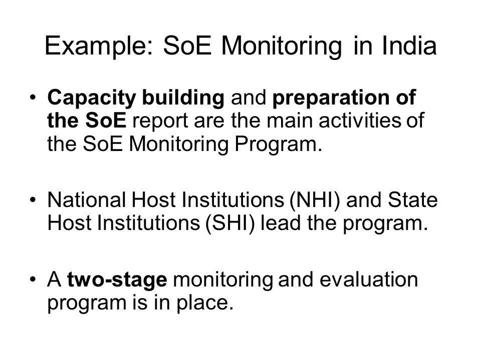 Example: SoE Monitoring in India