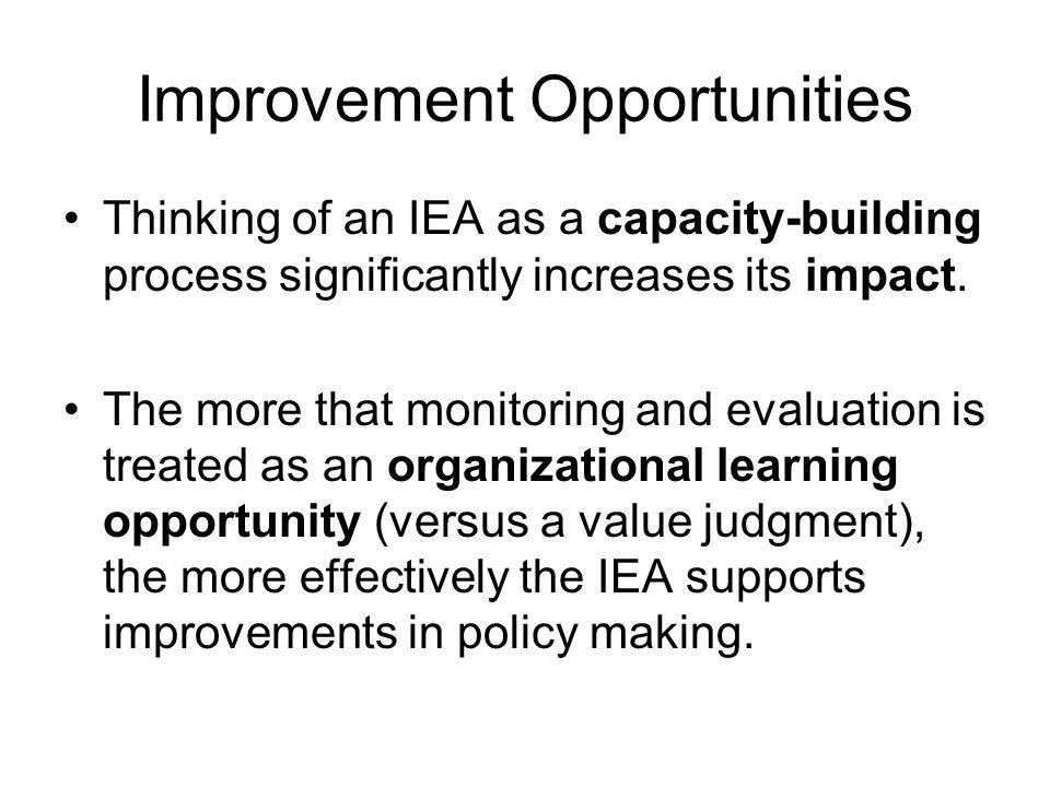 Improvement Opportunities