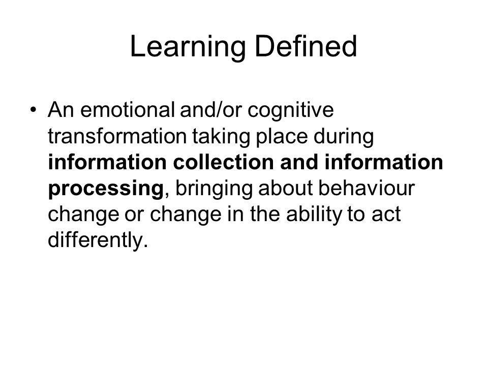 Learning Defined