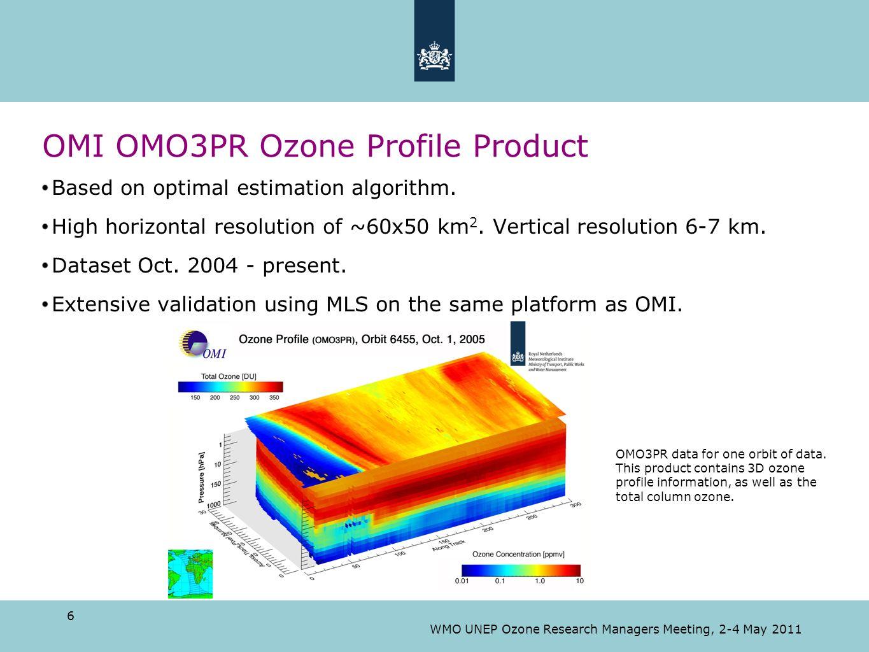 OMI OMO3PR Ozone Profile Product