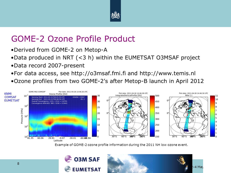 GOME-2 Ozone Profile Product