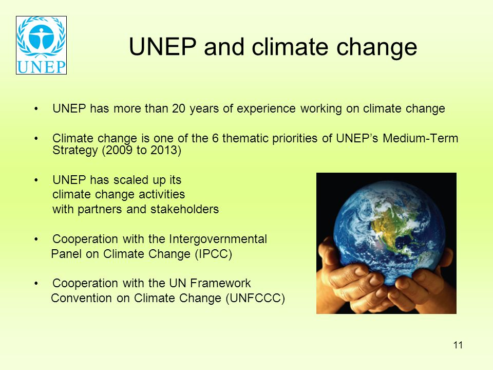 UNEP and climate change