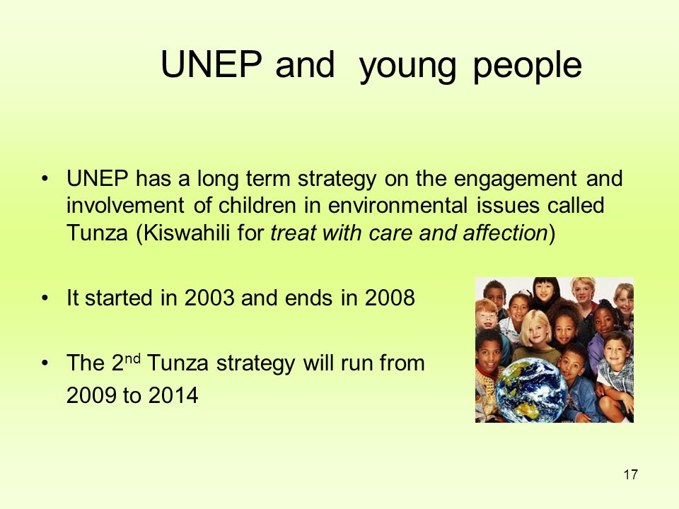 UNEP and young people