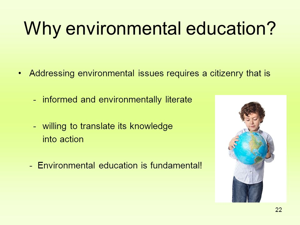 Why environmental education