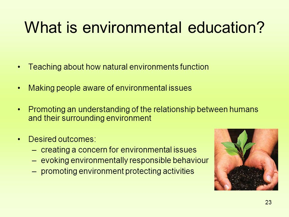 What is environmental education