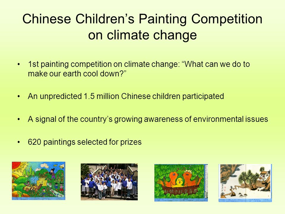 Chinese Children's Painting Competition on climate change