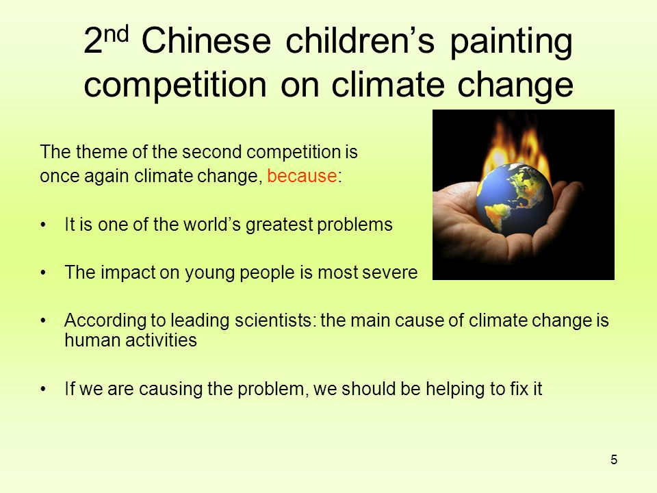 2nd Chinese children's painting competition on climate change