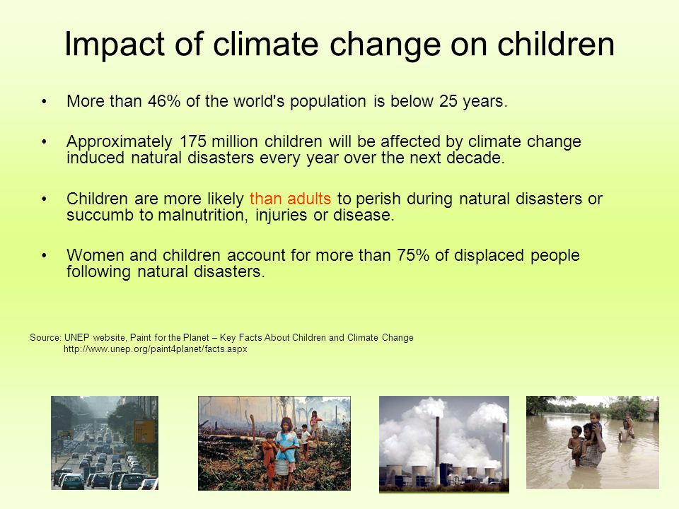 Impact of climate change on children