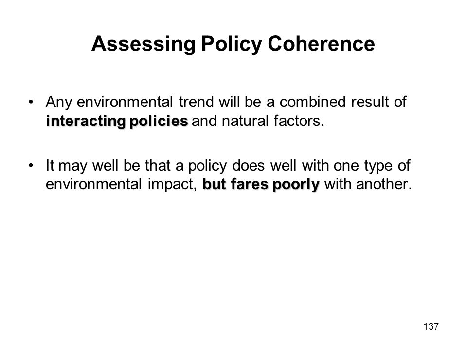 Assessing Policy Coherence
