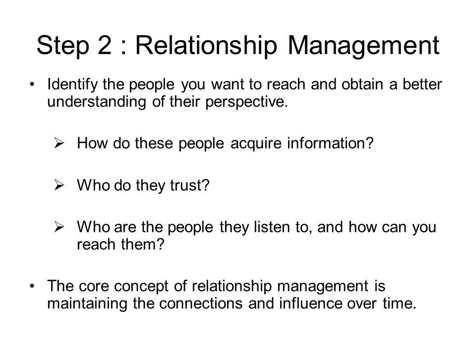 Step 2 : Relationship Management