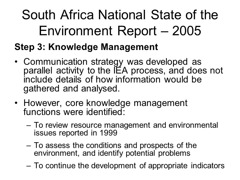 South Africa National State of the Environment Report – 2005