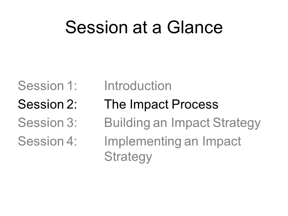 Session at a Glance Session 1: Introduction
