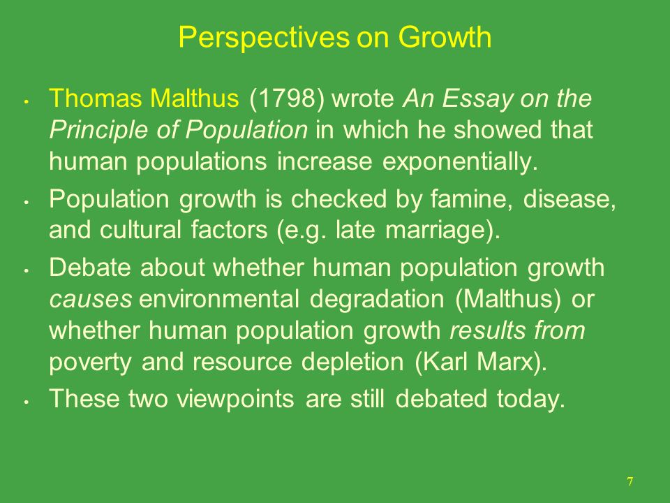 chapter outline population growth perspectives on growth ppt perspectives on growth