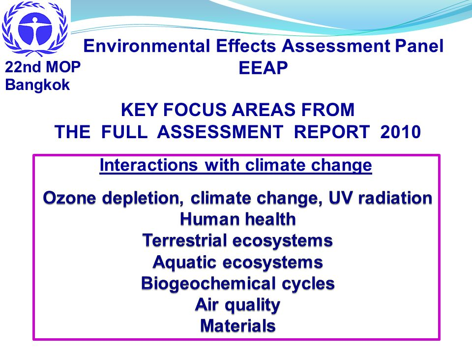 Environmental Effects Assessment Panel EEAP