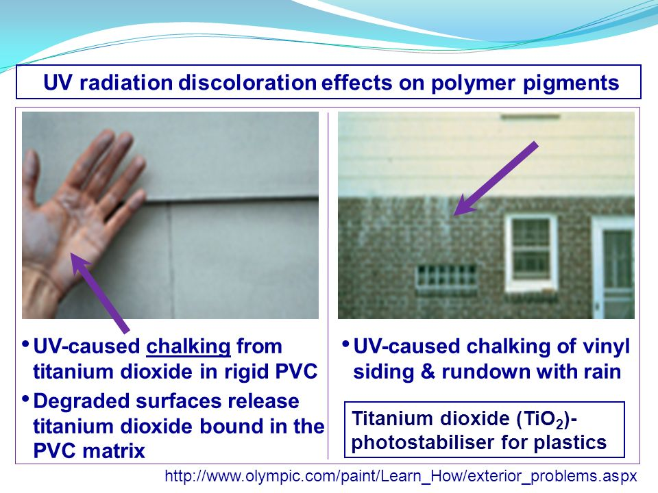 UV radiation discoloration effects on polymer pigments