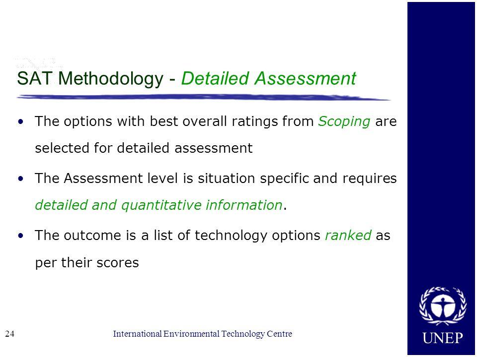 SAT Methodology - Detailed Assessment