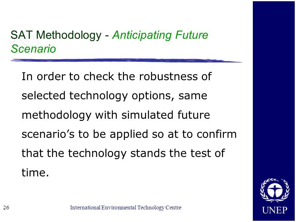 SAT Methodology - Anticipating Future Scenario
