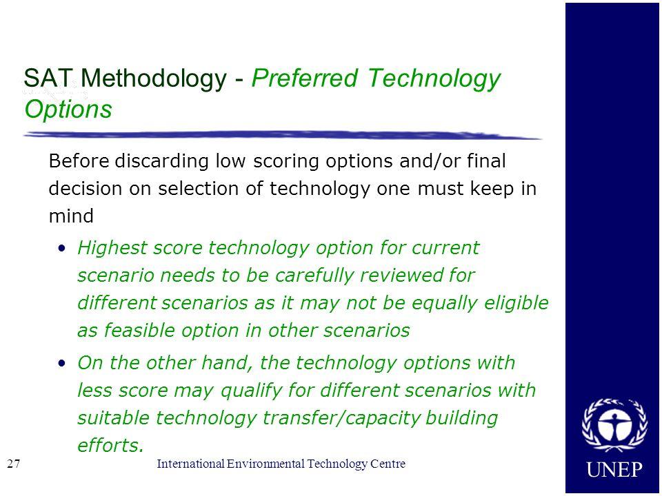 SAT Methodology - Preferred Technology Options