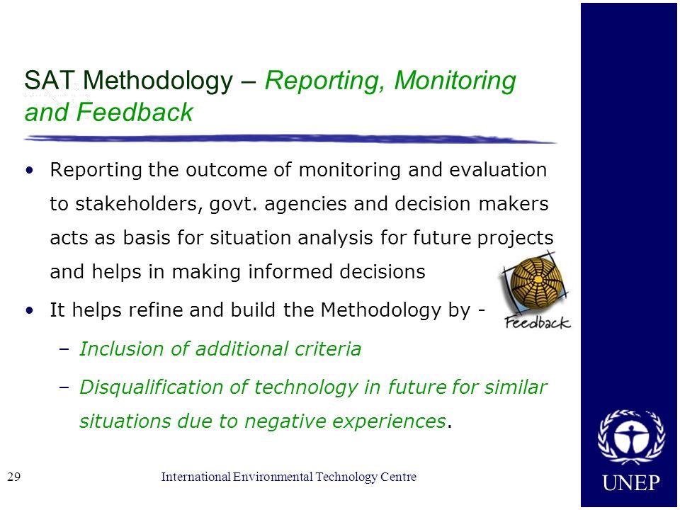 SAT Methodology – Reporting, Monitoring and Feedback