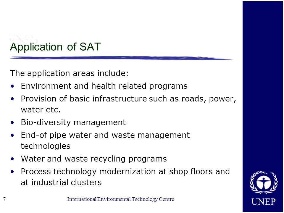 Application of SAT The application areas include: