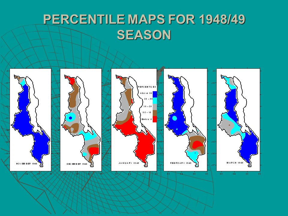 PERCENTILE MAPS FOR 1948/49 SEASON