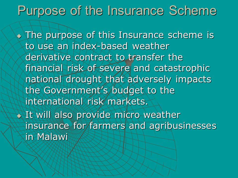Purpose of the Insurance Scheme