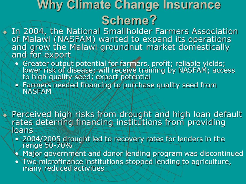 Why Climate Change Insurance Scheme