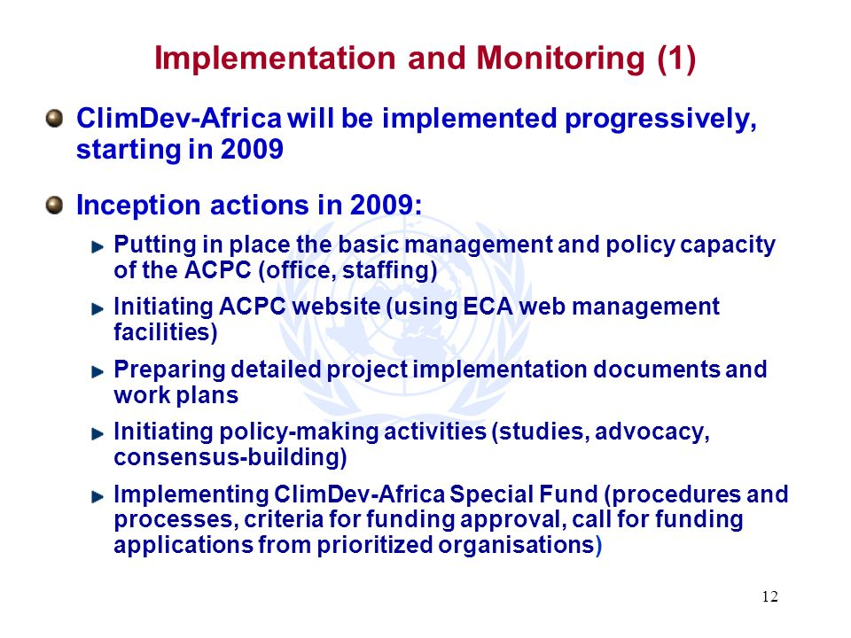 Implementation and Monitoring (1)