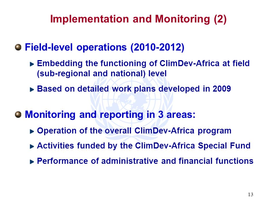 Implementation and Monitoring (2)