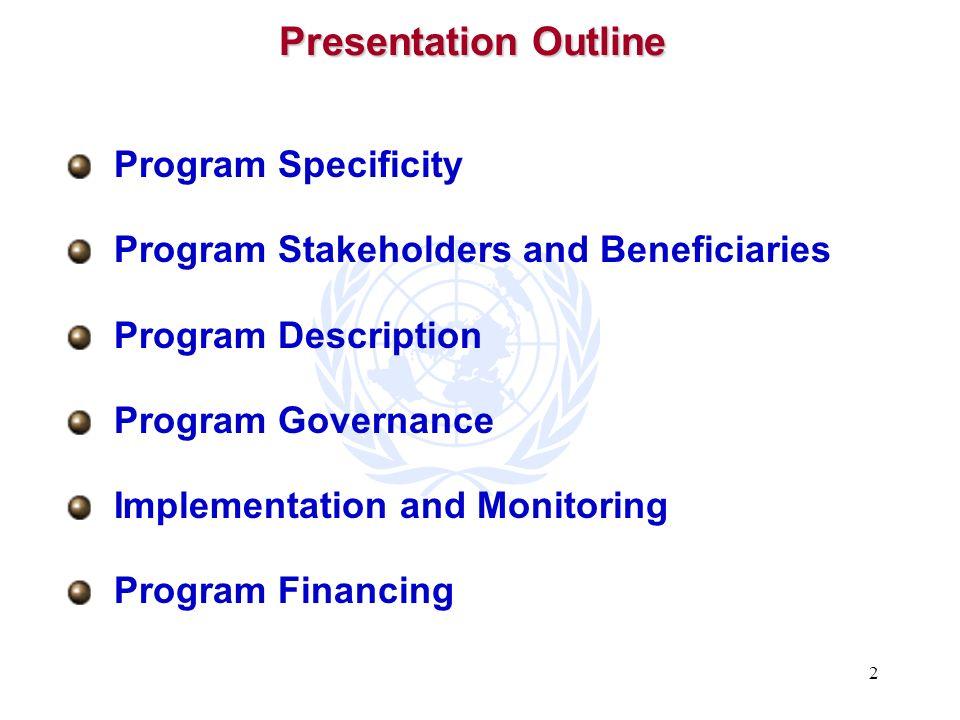 Presentation Outline Program Specificity