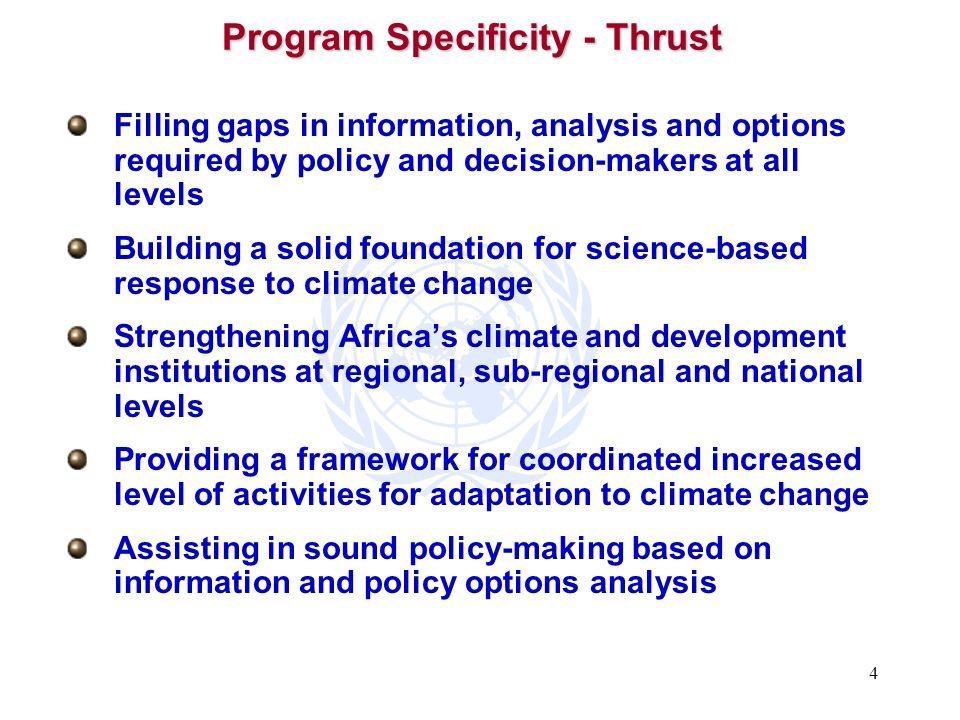 Program Specificity - Thrust