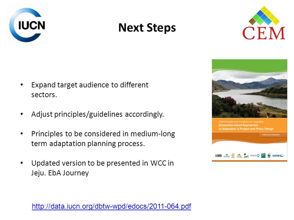 Next Steps Expand target audience to different sectors.