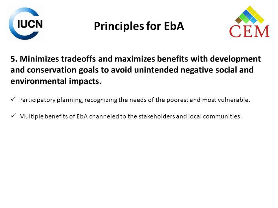 Principles for EbA