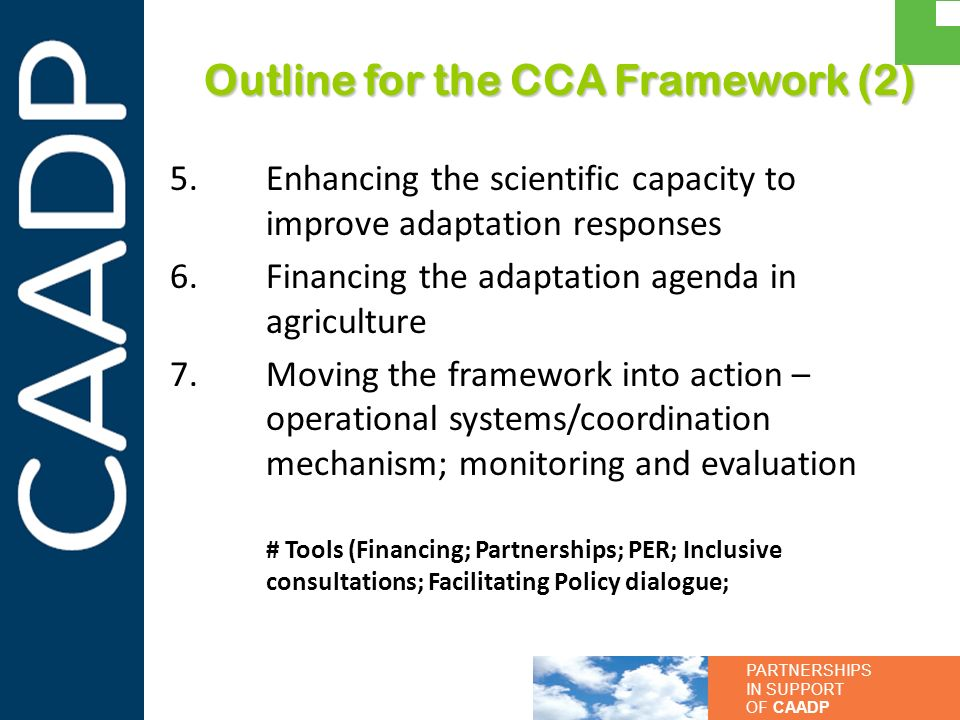 Outline for the CCA Framework (2)