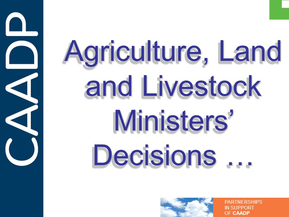 Agriculture, Land and Livestock Ministers' Decisions …