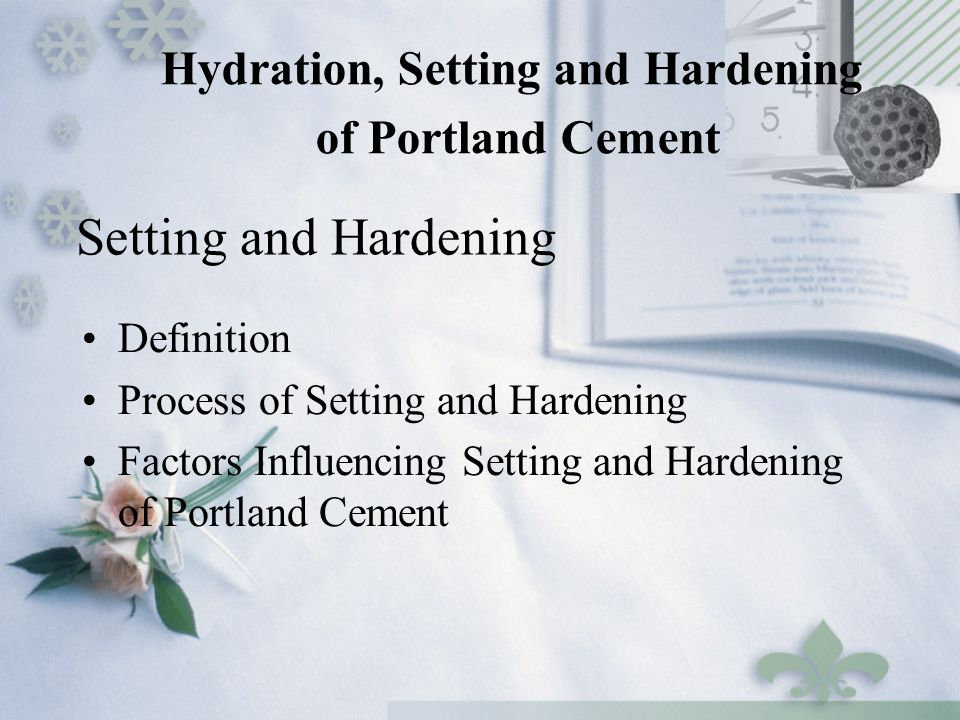 Hydration Of Portland Cement : Chapter cement ppt video online download